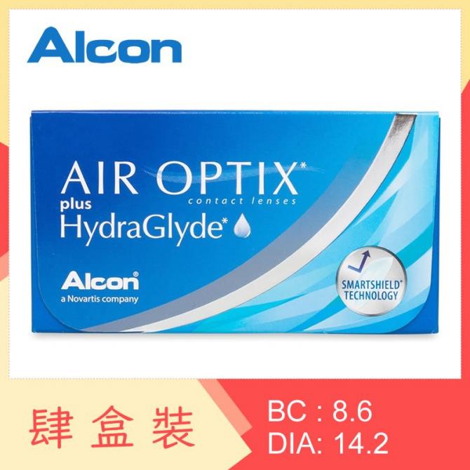 Air Optix plus HydraGlyde (4 Boxes)