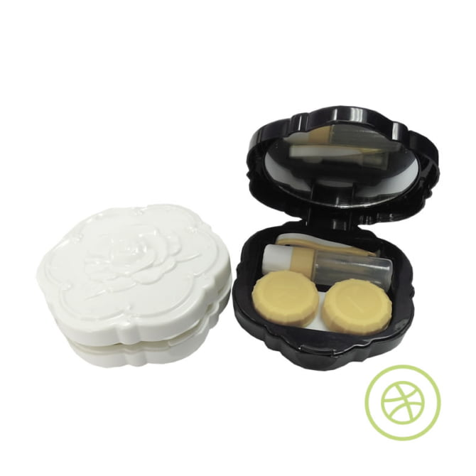 Rose Flower Contact Lens Case