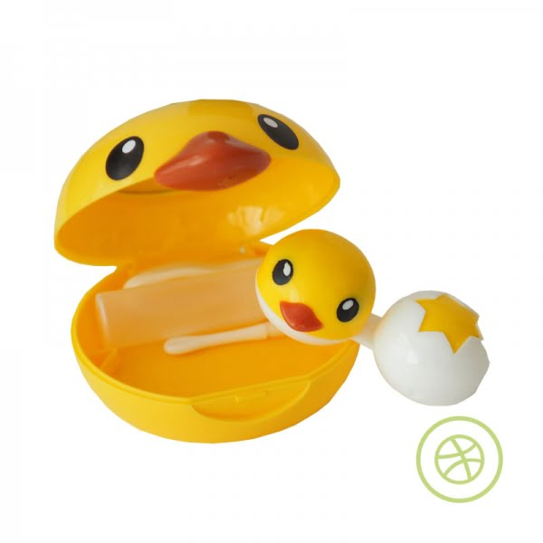 Yellow Duck Contact Lens Case
